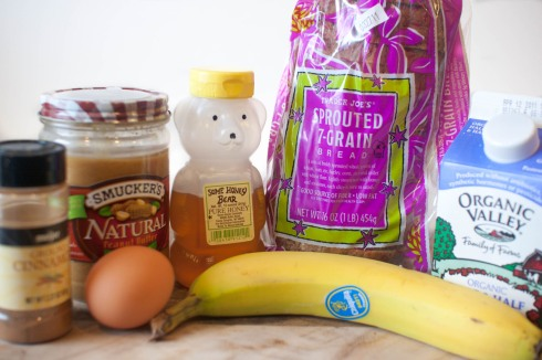 Melty Peanut Butter French Toast Sandwiches from freshandfoodie.com @freshandfoodie