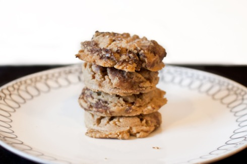 Salted Peanut Butter Cookies with Nutella Swirl from freshandfoodie.com @freshandfoodie