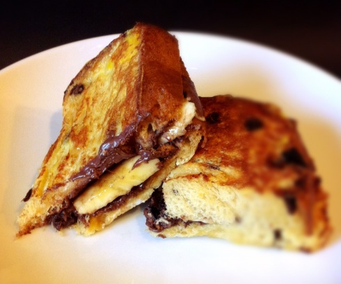 Nutella and Banana-Stuffed Panettone French Toast from freshandfoodie.com @freshandfoodie