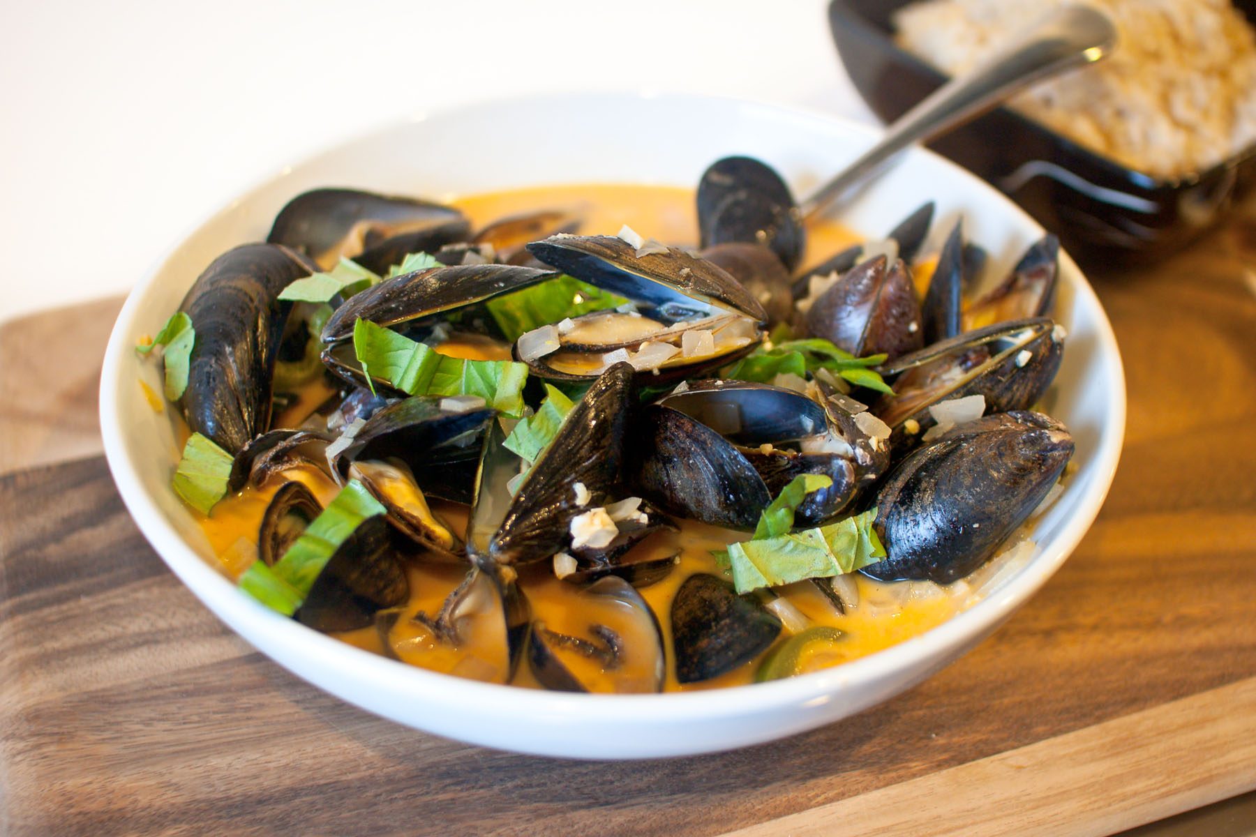 Coconut Curry Mussels with Coconut Brown Rice from freshandfoodie.com ...