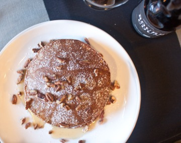 bourbon county stout pancakes from freshandfoodie.com @freshandfoodie
