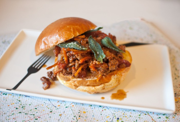 Drunken Buffalo Sandwiches with Fried Sage from freshandfoodie.com @freshandfoodie