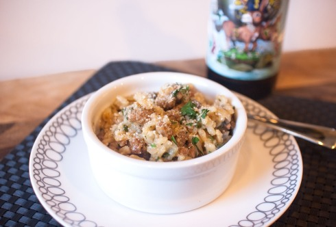 Double Daisy Cutter (Double IPA) Risotto from freshandfoodie.com @freshandfoodie
