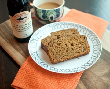 Pumpkin Beer Bread from freshandfoodie.com @freshandfoodie