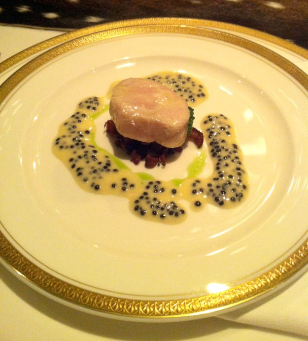 sturgeon with its caviar from next restaurant's the hunt menu via freshandfoodie.com @freshandfoodie