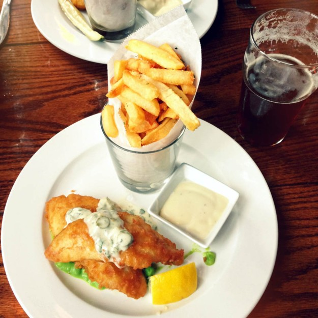 fish and chips from owen and engine via freshandfoodie.com @freshandfoodie