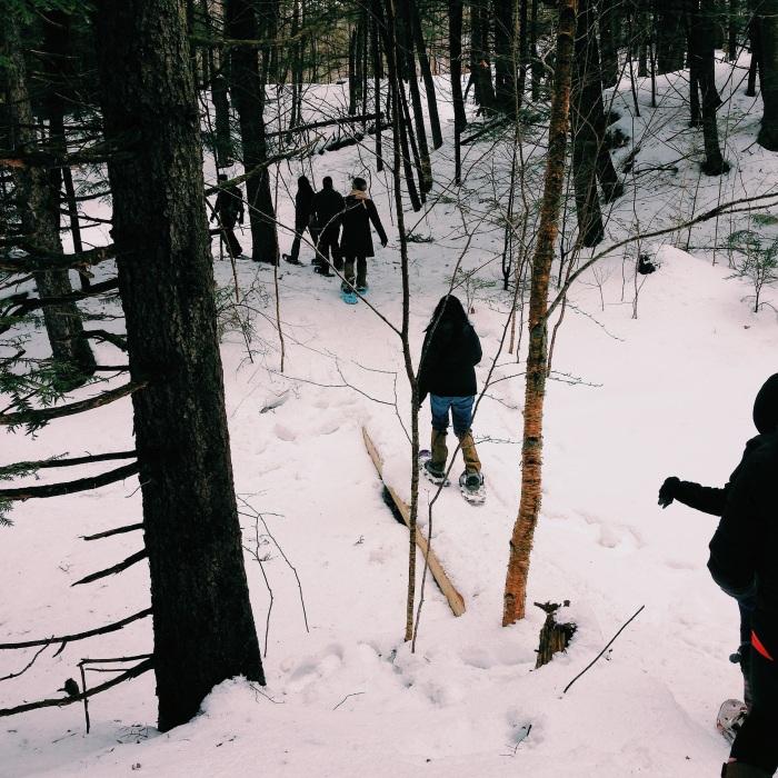 Snowshoeing in Vermont via freshandfoodie.com @freshandfoodie
