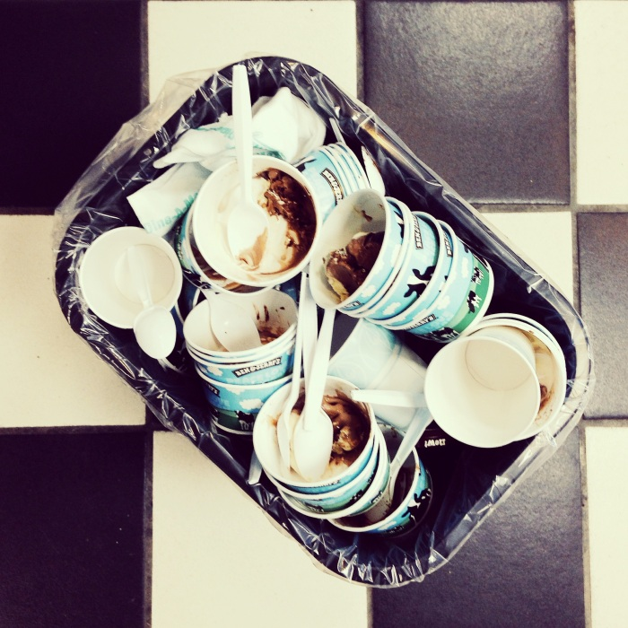 Ben & Jerry's ice cream overload via freshandfoodie.com @freshandfoodie