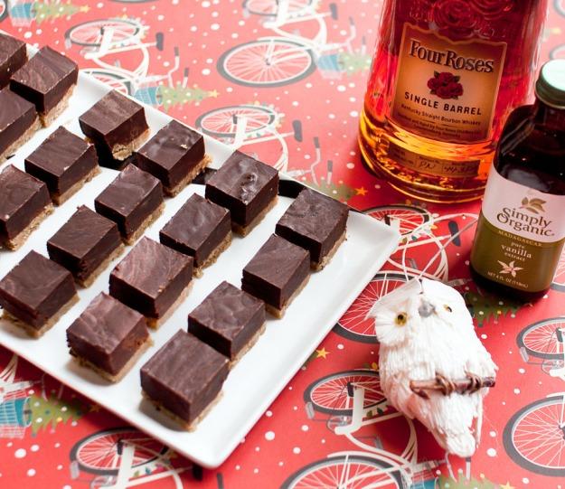 Bourbon Truffle Shortbread Squares via freshandfoodie.com @freshandfoodie